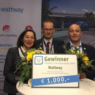 WATTWAY ERHÄLT DEN INNOVATIONSPREIS INFRATECH 2020